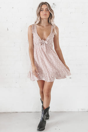 Something Special Mauve Mini Dress
