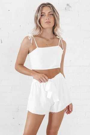 Queen Of Broken Hearts White Two Piece Set