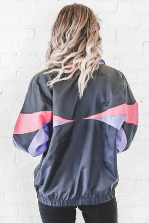 VINTAGE 90's Black Full Zip Adidas Windbreaker 119