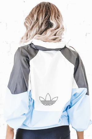 VINTAGE 90's White Full Zip Adidas Windbreaker 120