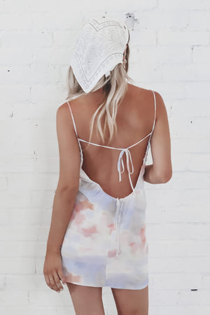 Beauty Queen Backless Tie Dye Dress