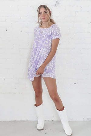 I'm Dressing Up Mini Purple Romper
