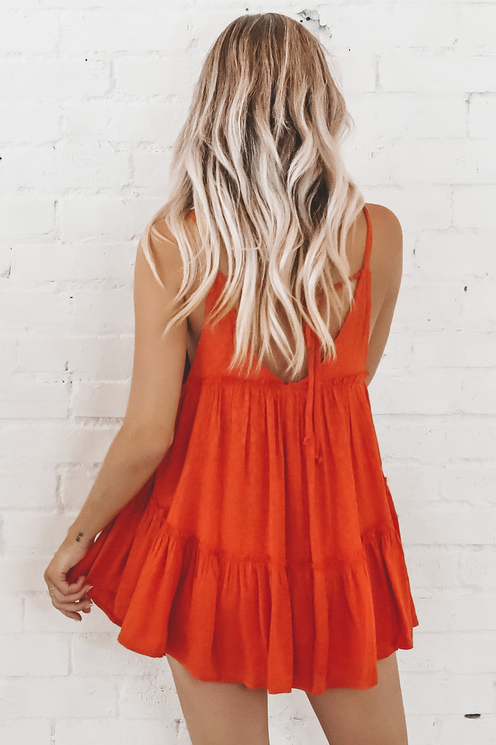 You're My Forever Safari Sunset Tiered Dress