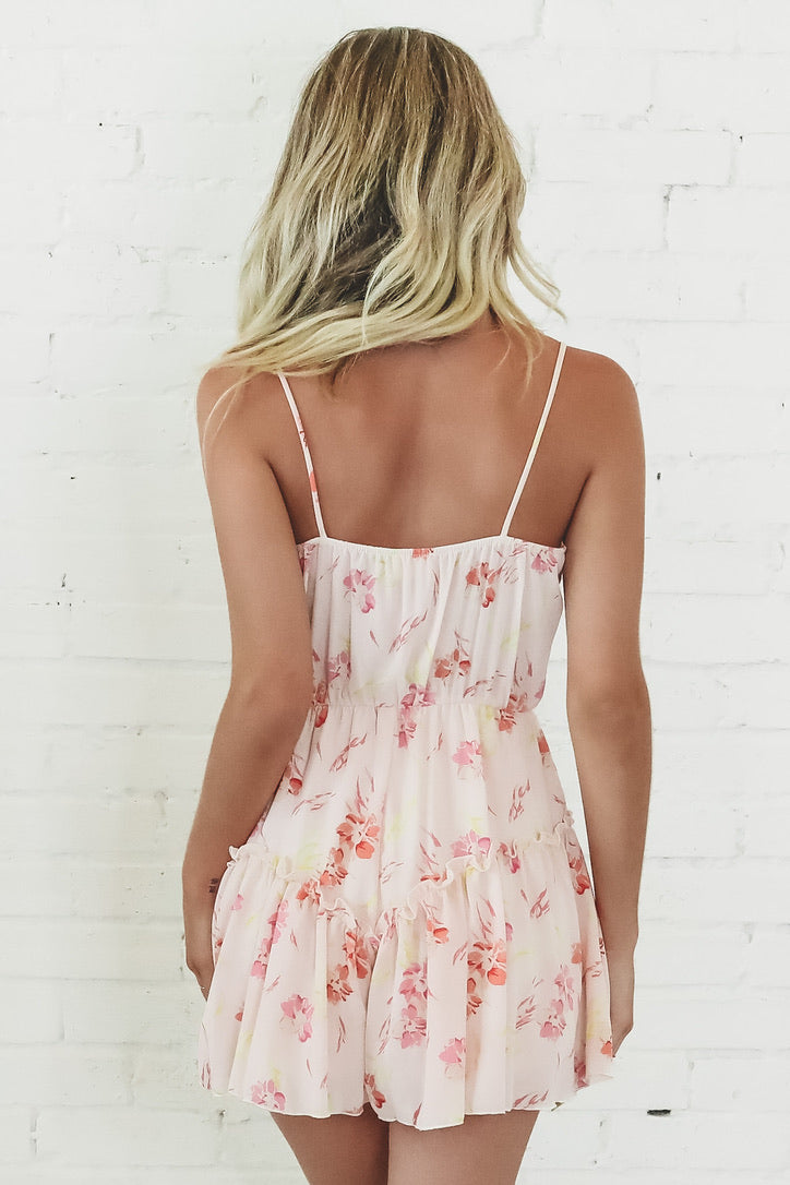 Pick Me Up Pink Floral Romper