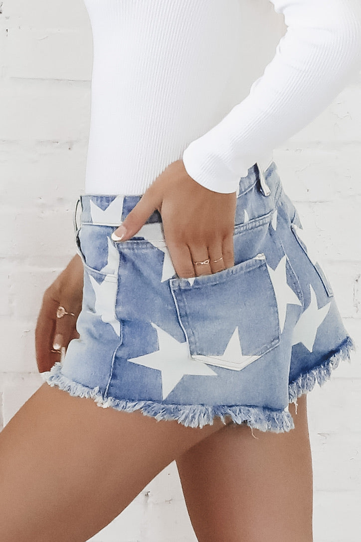 American Girl Star Denim Cut Offs
