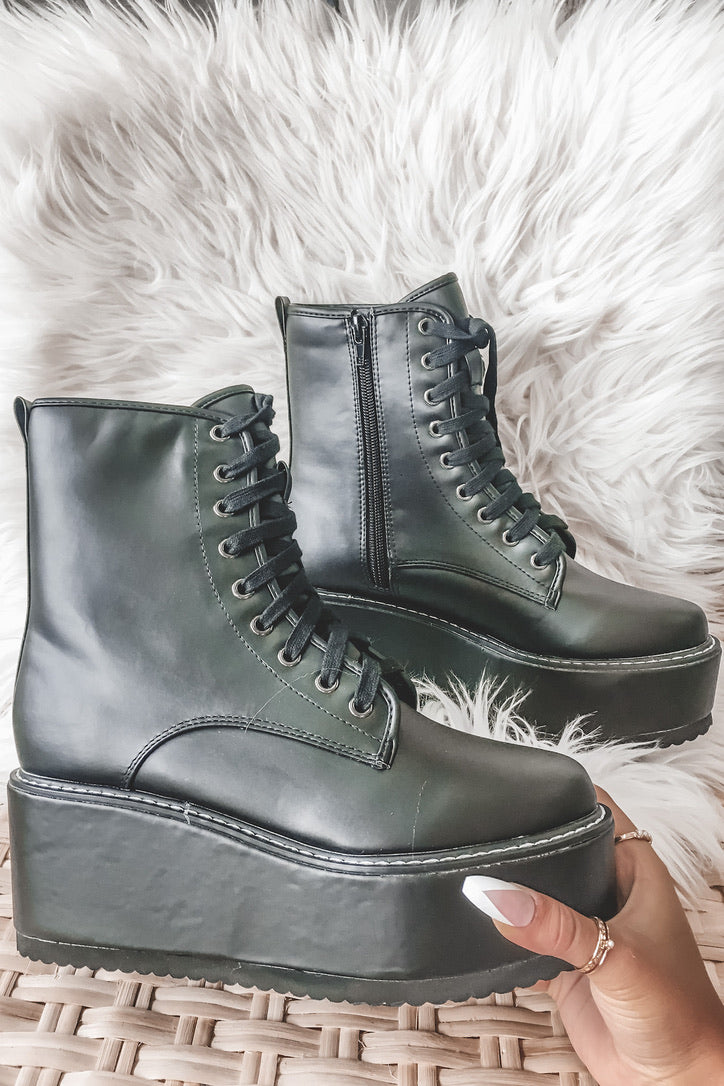 Bad Boy Bad Boy Black Platform Boots
