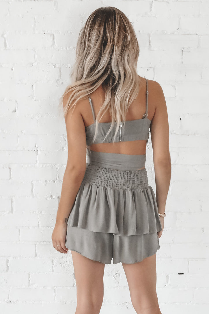 She's A Fighter Olive Two Piece Set
