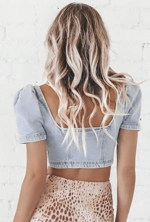 Denim Dreams Crop Top
