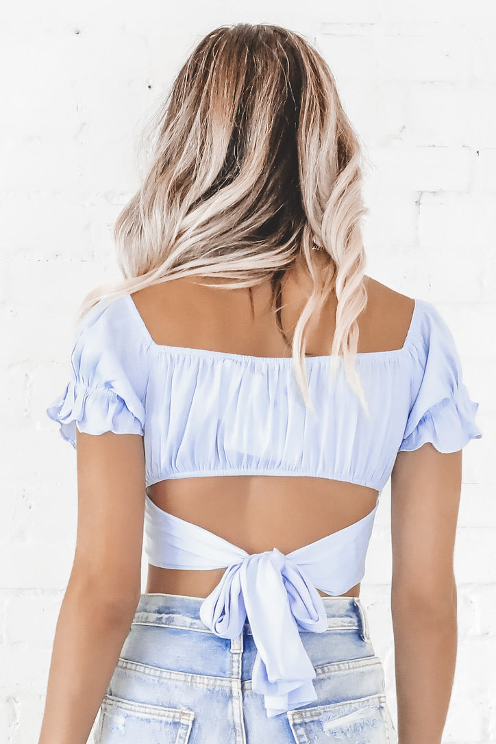 Beach You To It Blue Crop Top