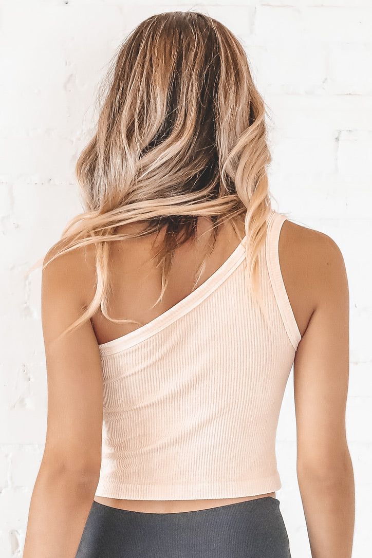 Pick Up Line One Shoulder Crop