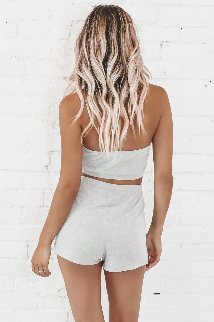 Catching Flights Gray Two Piece Set