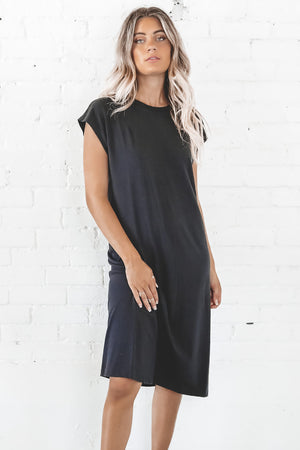 RICHER POORER Women's Easy Dress In Black Loungewear
