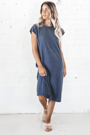 RICHER POORER Women's Easy Dress In Blue Nights Loungewear