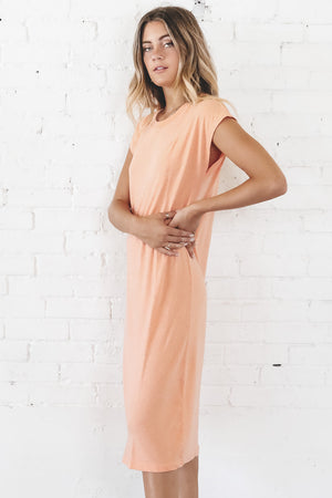 RICHER POORER Women's Easy Dress In Cantaloupe Loungewear