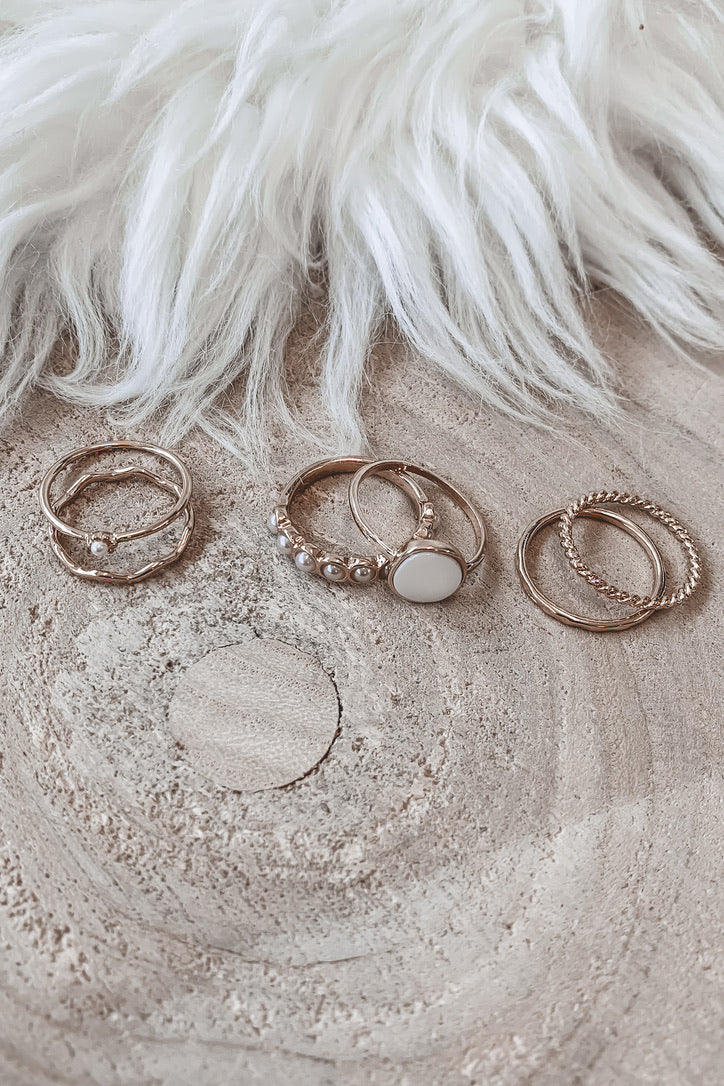 Give Me A Ring Gold Six Piece Ring Set