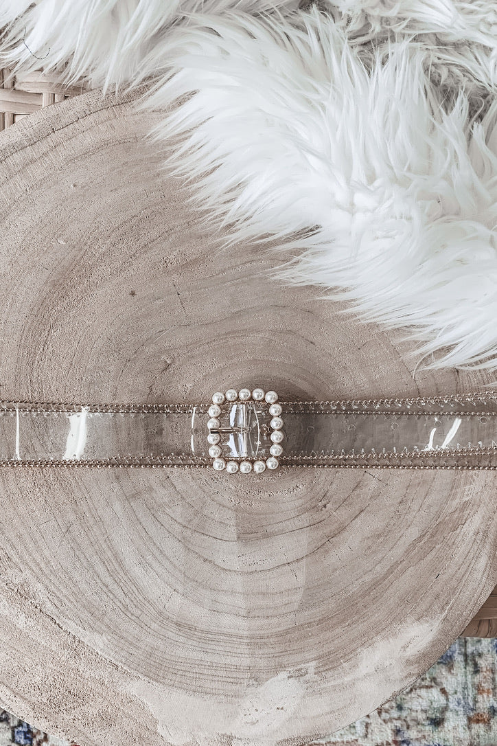 Fashionably Late Pearl Statement Belt
