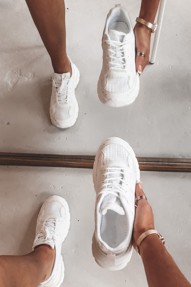 So Many Places To Go White Sneakers