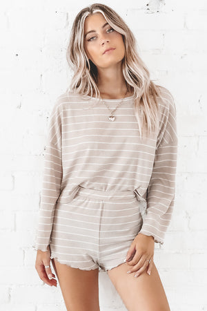 Sail Away With Me Taupe Lounge Set