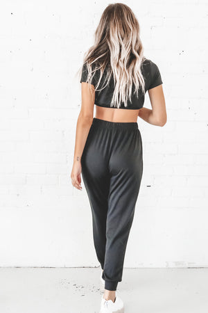 Go Sis Go Black Jogger Set