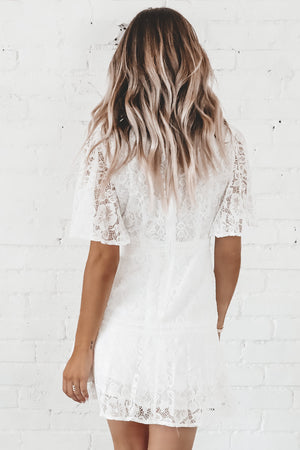 Wedding Bells White Lace Dress