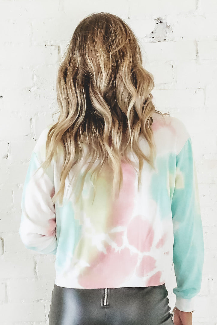 Dream On Dreamer Graphic Tie Dye Tee