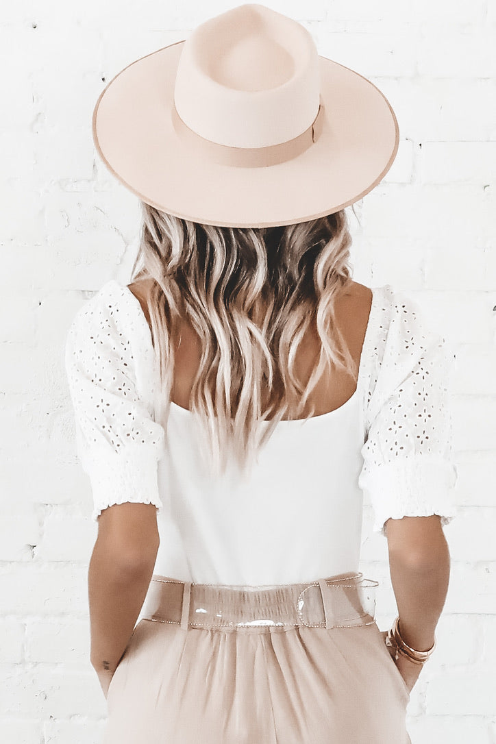 MINKPINK Think Twice White Bodysuit
