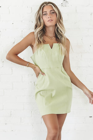MINKPINK Auriel Notched Mini Dress