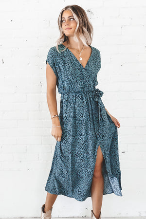 MINKPINK Eyes Wide Wrap Mini Dress