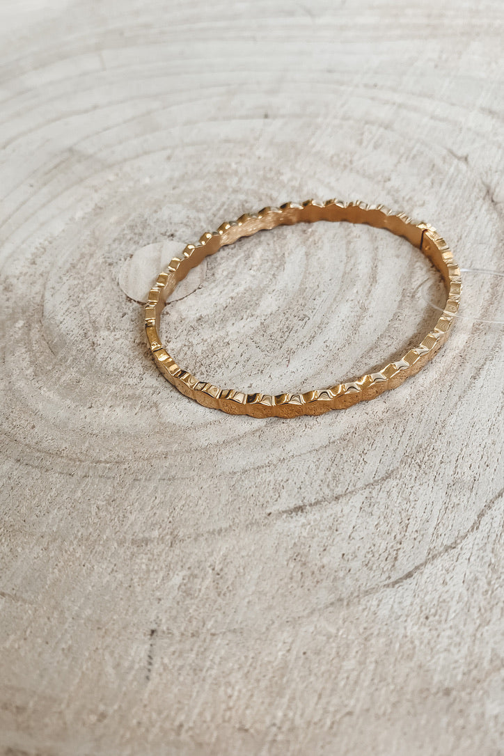 SAHIRA 18k Gold Honeycomb Bracelet Gold