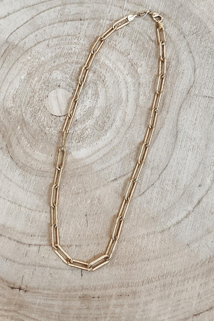 SAHIRA 18k Gold Carrie Link Necklace