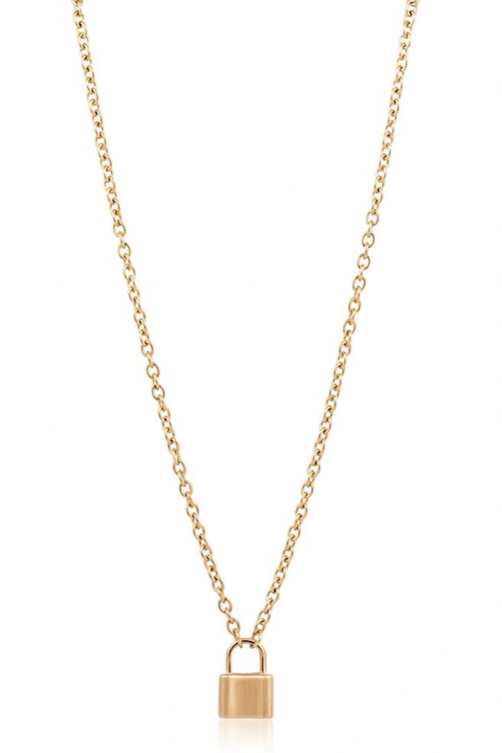 SAHIRA 18k Gold Jane Lock Necklace