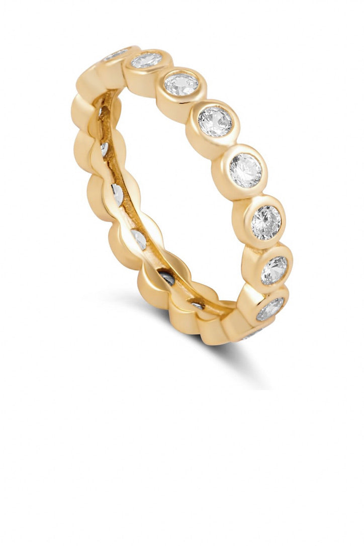 SAHIRA 18k Gold Celeste Eternity Ring