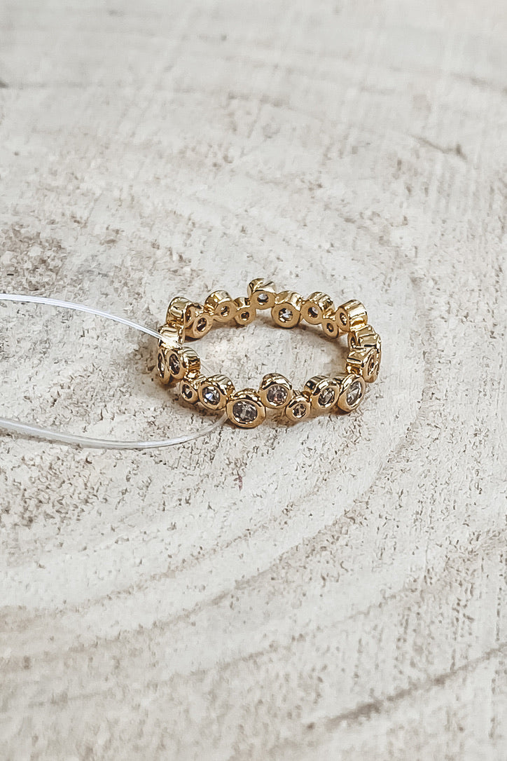 SAHIRA 18k Gold Claire Eternity Ring