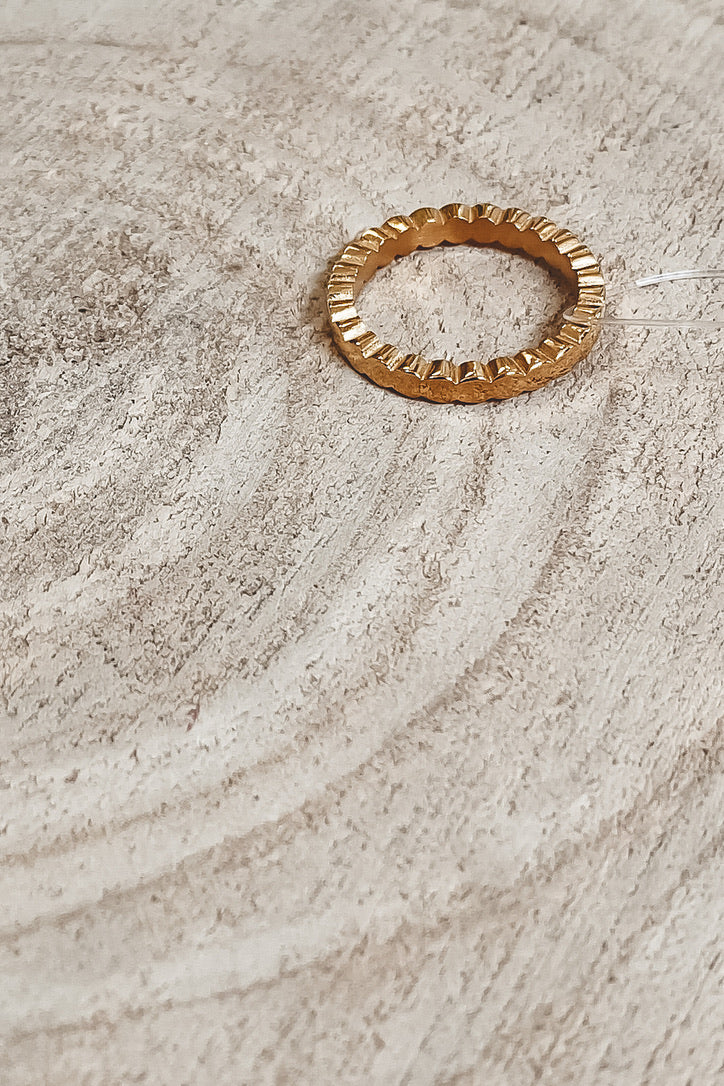 SAHIRA 18k Gold Colette Stackable Ring