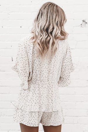 Walk Of Fame Ivory Star Romper