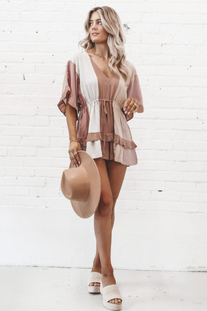 Let Me See Those Ruffles Striped Romper