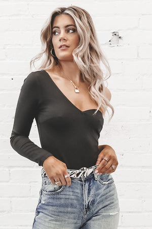 Stand Back One Shoulder Bodysuit