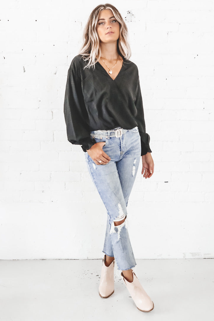 Bust A Move Black Blouse