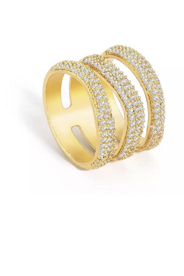 SAHIRA Gold Elle Pave Ring