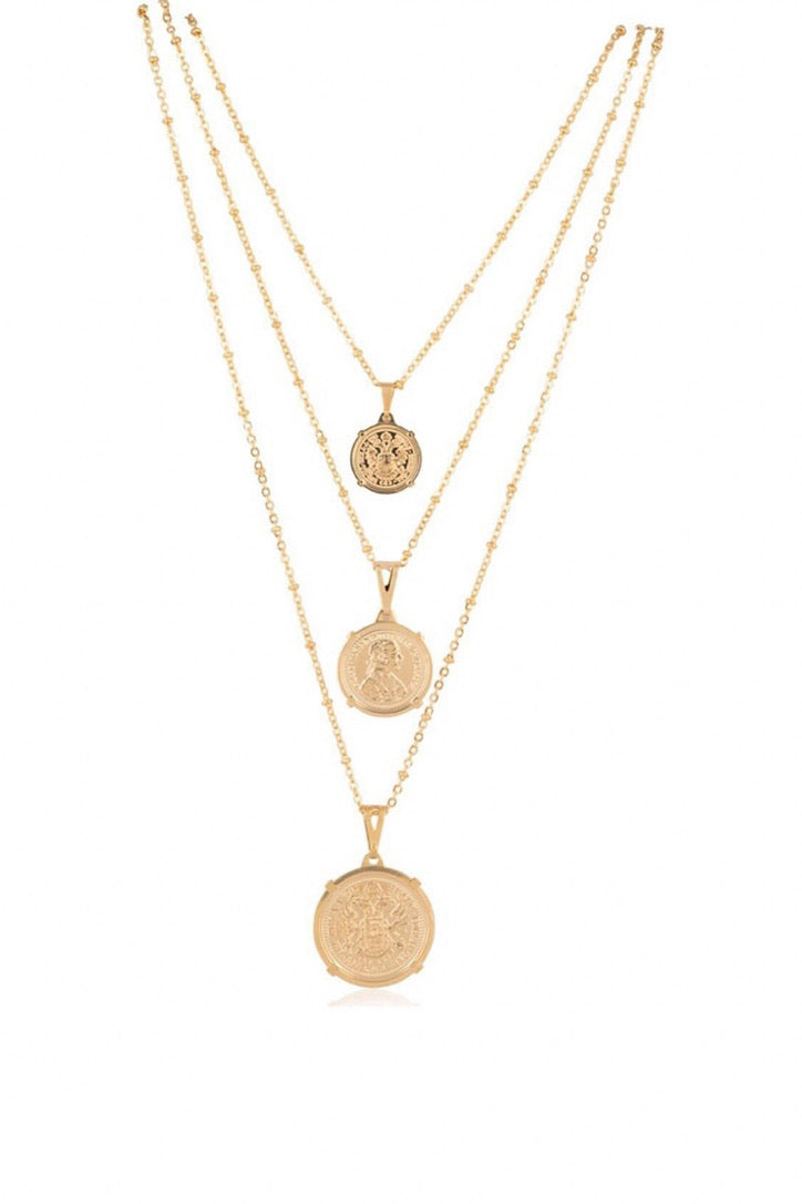 SAHIRA 18k Gold Emperor Coin Necklace