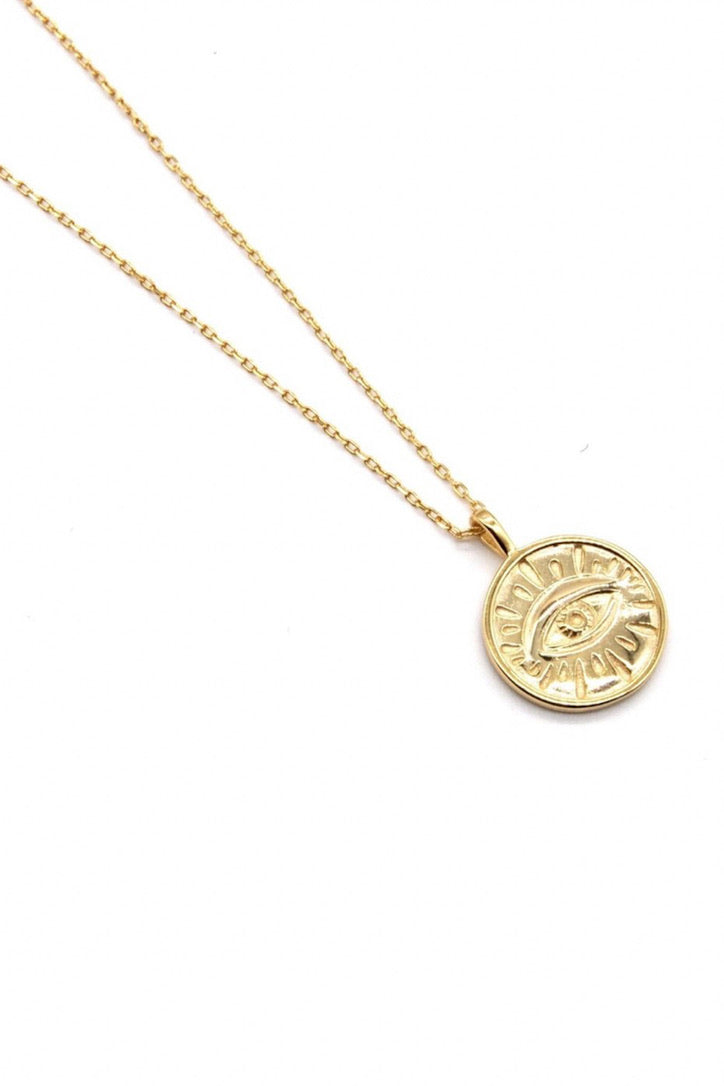 SAHIRA 18k Gold Evan Evil Eye Necklace