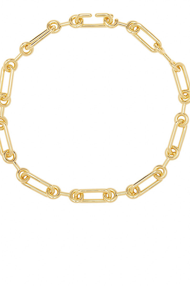 SAHIRA 18k Gold Lacey Chain Necklace