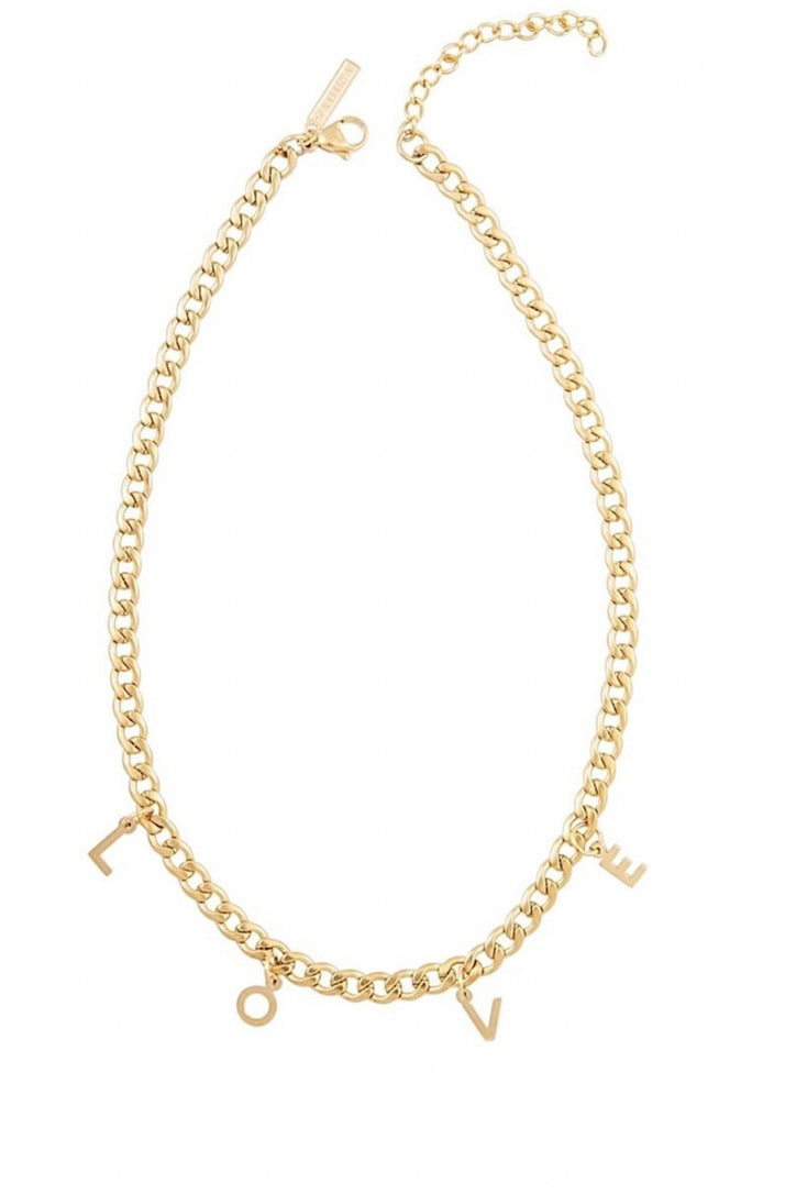 SAHIRA Gold Love Chain Necklace