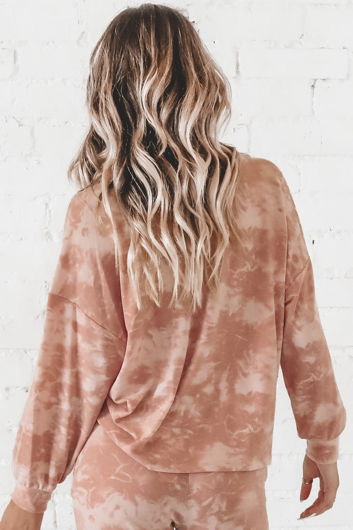Burnin' Up Mauve Tie Dye Top