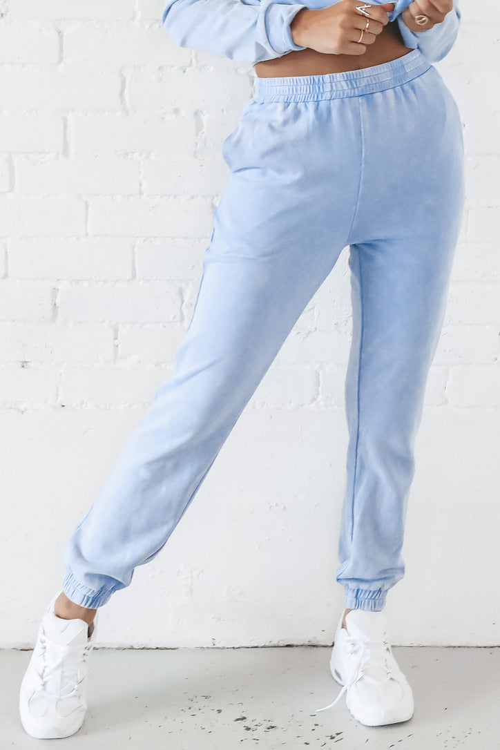 Tough Love Blue Washed Joggers