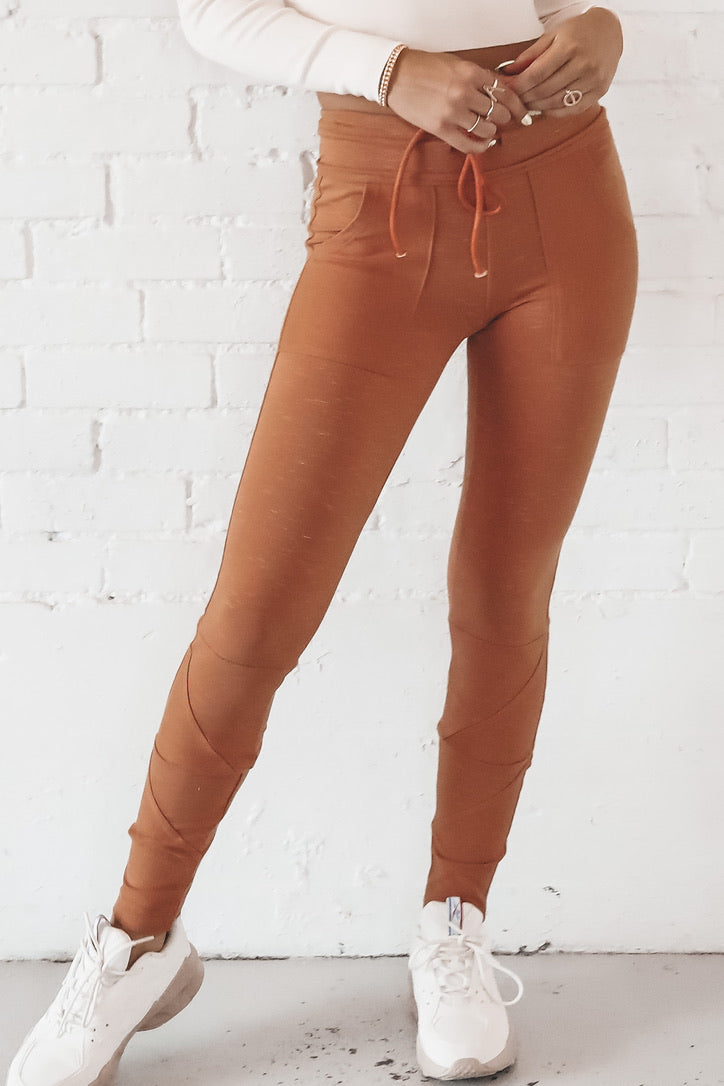 Walk It Out Terra Cotta Joggers