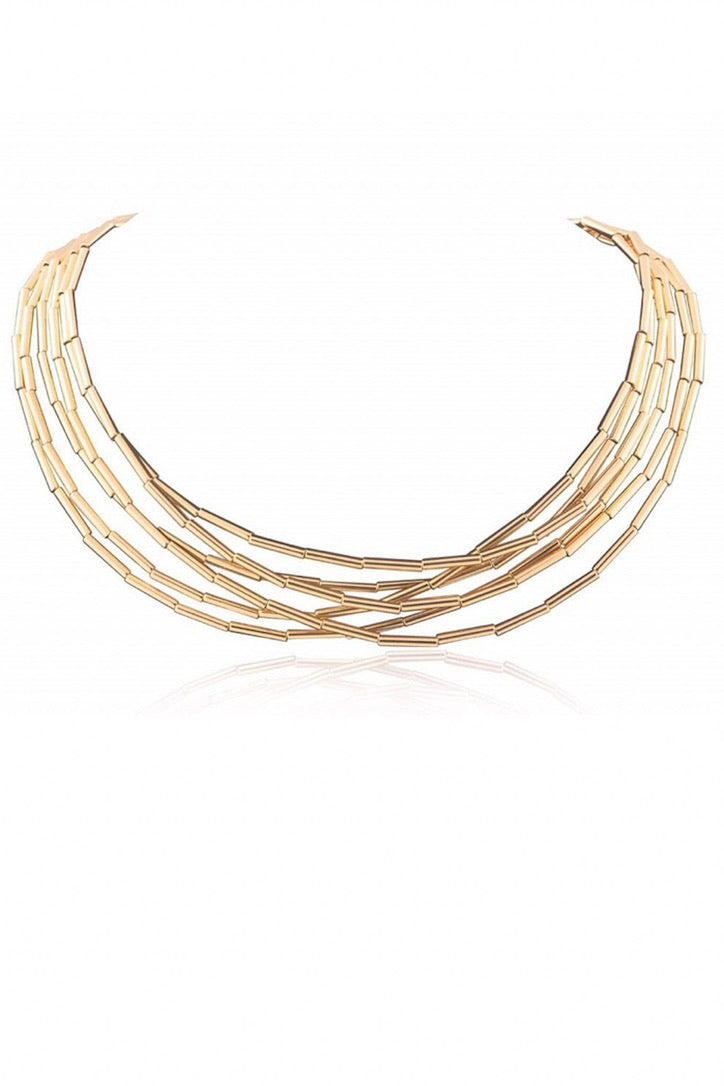SAHIRA 18k Gold Mara Wrap Necklace