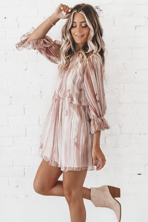 Accept This Rose Striped Mini Dress