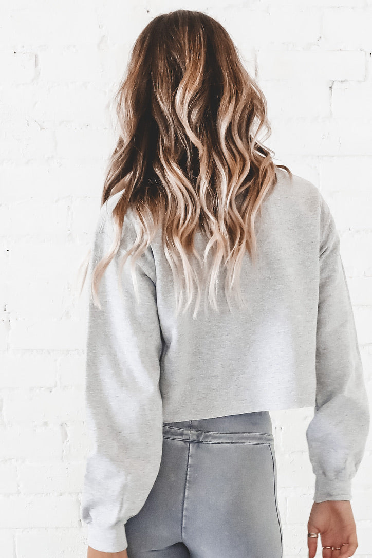 Made Of Stars Gray Crop Sweatshirt