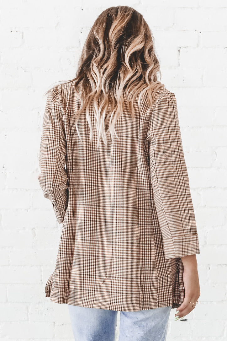 Business Professional Plaid Blazer